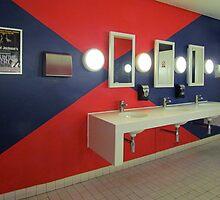 Washroom Blues…and Reds by Ian Ker