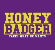 Honey Badger - Purple by Zach Lowery