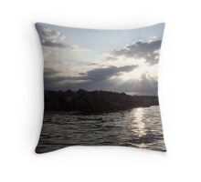 South Shore Clouds  Throw Pillow