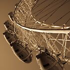 London Eye Abstract View Antique Effect Image by DavidHornchurch