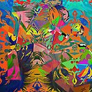 Abstract Acrylic and Digital by Grant Wilson