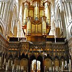 Organ, Norwich Cathedral by richard  webb