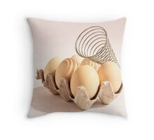 Egg-Centric Throw Pillow
