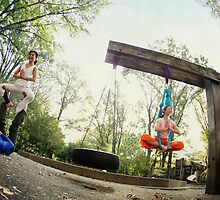 Acroyoga and Aerial Yoga at Central Park, New York by Wari Om  Yoga Photography
