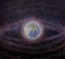 Orbital Debris - Space Debris Painting by Alizey Khan