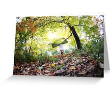 Autum Handstand in Central Park, New York  Greeting Card