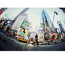 Yoga, handstand at Times Square, New York Photographic Print