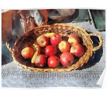 Apples and Bananas in Basket Poster