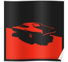 Mercury Marauder,  1969 - Red on black Poster