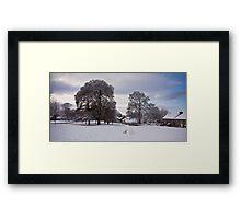 Snow on the Village Green Framed Print