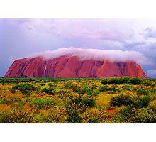 Mighty Uluru Under Storm Cloud Photographic Print