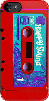 Happy Sound Cassette Red by HighDesign