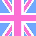 Pink, White and Blue Union Jack Flag of the UK by ArtformDesigns