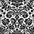 Vintage Black and White Damask Pattern by ArtformDesigns