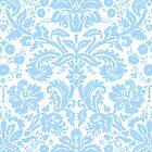 Vintage Damask Pattern in Blue and White by ArtformDesigns