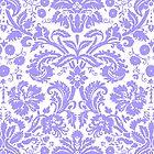 Vintage Damask Pattern in Lilac Purple and White by ArtformDesigns
