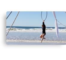 Aerial Hoop Trapeze Beach Camp Canvas Print