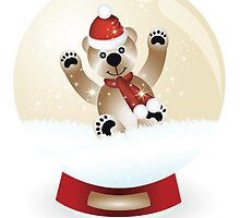 Snow globe with teddy by schtroumpf2510