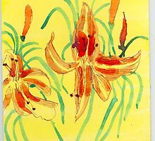 Day Lillies by wormink