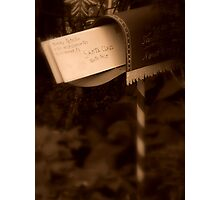 Letter To Santa Photographic Print