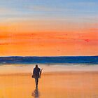 Sunrise Beach Fishing by Richard Darcy