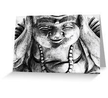 Smiling buddha Greeting Card