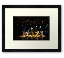 A Scene From The Lion King Show. Disneyland, Hong Kong. Framed Print