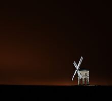 Red Sky At Night Makes Windmill A superb Sight by yampy