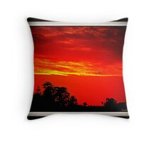 Sun Set By The Bay Throw Pillow