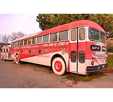 The Tour Bus From Hell Photographic Print