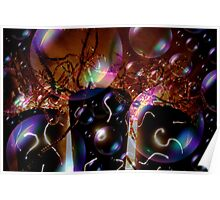 A Bubbly Happy New Year Abstract Poster
