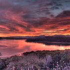 Lake Mendocino Sunset Panorama by Dory Breaux