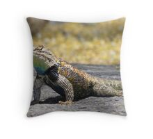 Desert Spiny Lizard ~ Male Throw Pillow