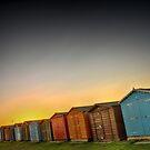 Beach Huts At Dovercourt by Mat Robinson