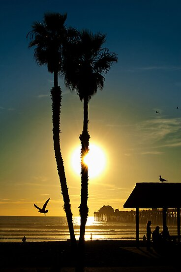Sunset Oceanside California by Phil Campus