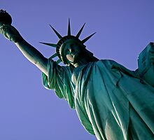 Statue of Liberty - Blue Sky by CalumCJL