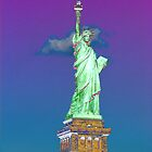 Statue Of Liberty (Solarized) by Ken Griffith