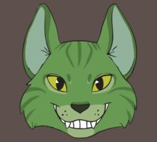Green Cat Grins by Growly