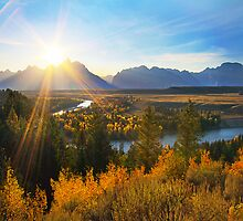 Snake River Sunset, Wyoming, USA by Jennifer Bailey