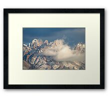 Clouds Lifting after a Snowstorm Framed Print