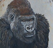 Leader of Gorilla Group by Margaret Saheed