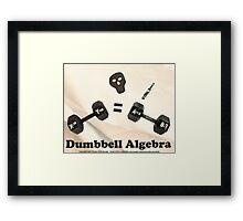 Dumbbell Algebra  Framed Print
