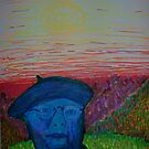Artist in Blue Beret by George Hunter