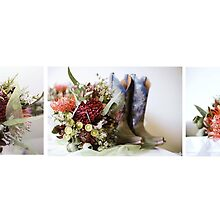 Native Flowers & Cowgirl Boots by Jenny Enever