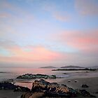 Pink to blue sunrise - Roches Beach, Tasmania by clickedbynic