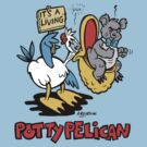 Potty Pelican Toilet Humour by Ross Radiation