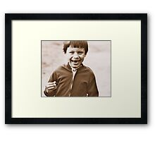 I Adore Eating Nuts! Framed Print
