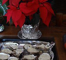 A Special Chirstmas Treat: Oysters with a creme with blue cheese - Algo especial para Navidad: Ostiones con una crema con queso Gorgonzola  by PtoVallartaMex