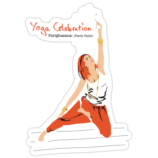 Yoga Celebration - Parighasana Party Style by Amanda Latchmore
