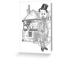 A Fine Victorian Feline Greeting Card